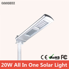 All In One 48 Led 2000LM Solar Street Lights Motio Sensor Lamp Garden Decoration Lamps Yard Gate High pole light(China)