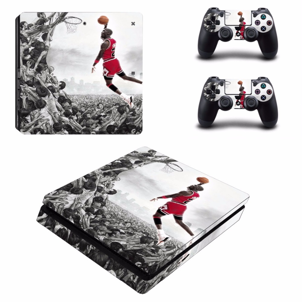 Cover-Set Skin-Set Sticker Slim-Console Air-Jordan Decal Vinyl PS4 Sony for And title=