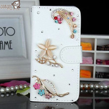 Buy Bling Crystal Diamonds Pearls Handmade Wallet PU leather flip slots stand wallet case cover Microsoft Nokia Lumia 535 for $5.51 in AliExpress store