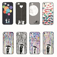 Super New In the Rain Romantic Series PC Hard Shell Cover Case For Apple iPhone 4 4S 4G 5 5S SE 5G Free Shipping