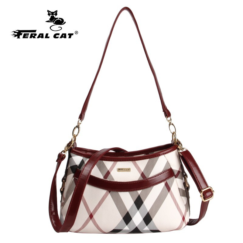2017 New Baguette Shoulder Bag Women Messenger Bags Crossbody Authentic Luxury Brands Womens Plaid Handbags Free Shipping 7108<br><br>Aliexpress