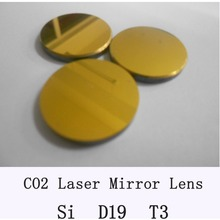 3pcs/lot Si Mirror Diameter 19mm Co2 Laser Mirror lens for laser cutting part