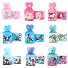 6pcs/lot Cartoon Mickey theme paper bags baby shower souvenirs gift candy boxs birthday party decorations(China)