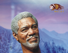 "1:6 Action Figure Accessory 1/6 Shawshank Redemption Batman Technician Morgan Freeman Head Carving for 12"" Figure Doll Toys(China)"