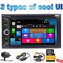 Wireless Backup Camera+2 Din Car DVD Player Autoradio Stereo Automotive 3D GPS Auto Radio PC Electronics MP3 Music Capacitive(China)
