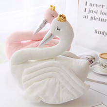 Fashion Baby Crown Swan Sleeping Pillow Children's Room Decoration Kids Animal Dolls Toys Photography Props High Quality Gifts