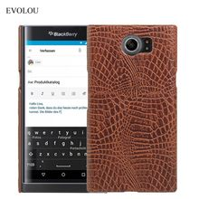 EVOLOU Crocodile Skin Leather Cover Case For BlackBerry Priv 5.4'' Protective Hard Back Cover for BlackBerry Venice Phone Cases(China)