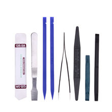 8 In 1 Cell Mobile Phone Tweezers Pry Opening Repairing Tools Kit Opener Pro Hand Disassemble Tools Set for iPhone iPad Tablet(China)