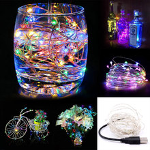 2M 5M 10M Emergency Light LED holiday lights Christmas Wedding decor silver copper wire fairy starry twinkle string light(China)