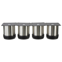 4Pcs Cabinet Legs Adjustable Stainless Steel Furniture Feet Round Stand Holder 6cm(China)