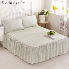 DeMissir Pastoral Sanding Bed Skirt Reactive Printing 180x200cm/150x200cm Queen Twin Size Adult Chindren Fitted Sheet Bed Cover(China)