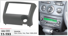 11-193 top quality Car radio CD Frame facia plate panel installation surround trim kit for TOYOTA Yaris Echo 1999-2005 2-DIN