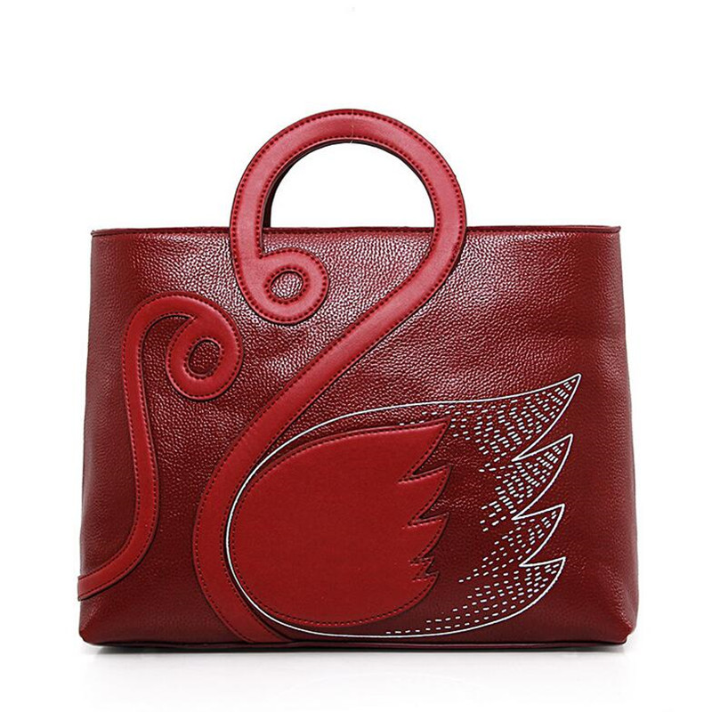 BARHEE Vintage Women Handbag Tote Bags Swan National Women Messenger Bag Leather Multifunction Large Black Blue bolsa feminina<br>