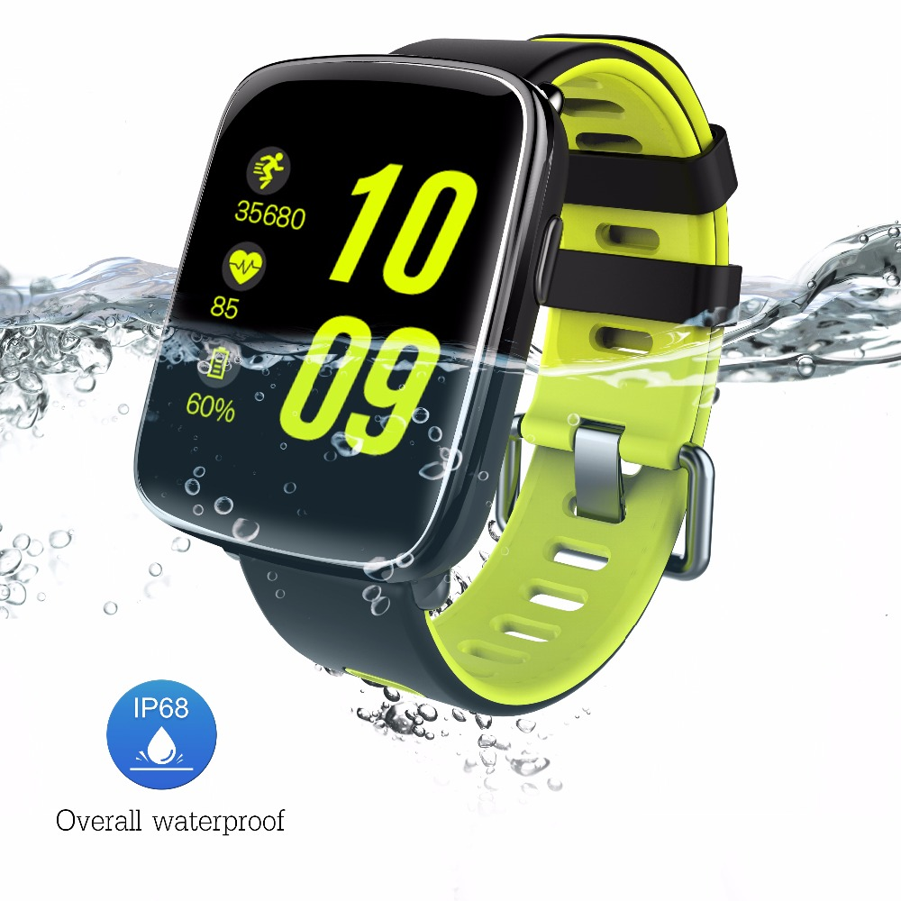 Vwar MTK2502 Smart Watch IP68 Waterproof Bluetooth Sport Heart Rate Water Clock Message Call Reminder IOS/Android VS iwo 2