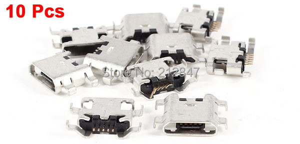 10 Pcs Type B Micro USB 5 Pin Female Charger Mount Jack Connector Port Socket<br><br>Aliexpress
