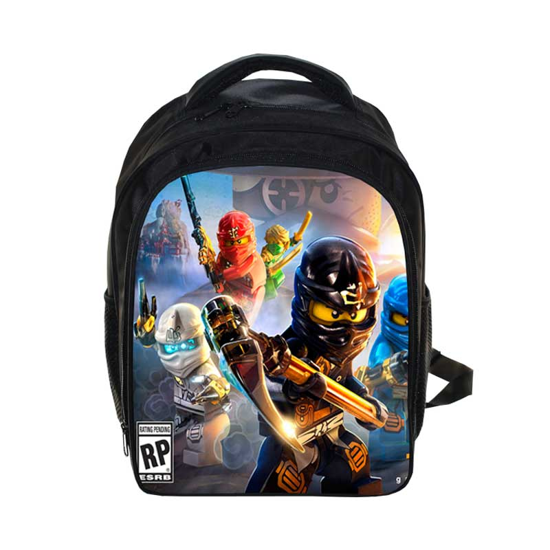 Kids Cartoon Movie Backpack 2017 Lego Boys Girls Backpacks Lego Ninjago Pattern SchoolBag Kids Daily Backpacks Best GiftBag