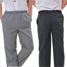 New Arrival Chef Uniform Restaurant Pants Kitchen Trouser Chef Pants Elastic Waist Bottoms Food Service Pants Mens Work Wear
