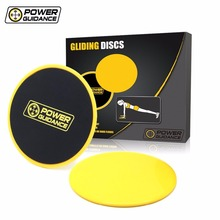Set of 2 Core Sliders - Dual Sided Gliding Discs - Use on Carpet or Hardwood Floors - Great for Core Training & Home Workouts