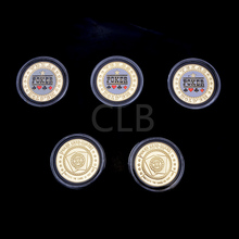 Wholesale Collectible Texas Poker Design Poker Token Coin Protect The Cards In Your Hand Coins with Plastic Case for  Gifts