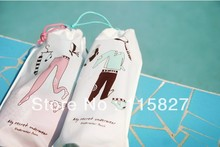 Free Shipping!4pc/lot travel bag Underwear socks brassiere shoes bag Beach Towel Bag Air Mail Pack storage bag New Creative Gift