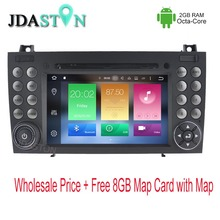 2 DIN Android Car DVD Player For Mercedes Benz SLK R171 SLK230 W171 Octa Core 2GB Ram Car radio Multimedia GPS Navigation Audio
