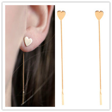 New fashion jewelry Triangle heart design tassel stud gift for women girl E3225