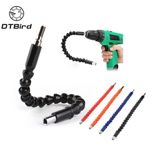 "Car Repair Tools Black 295mm Flexible Shaft Bits Extention Screwdriver Bit Holder Connect Link Electronics Drill 1/4"" Hex Shank(China)"