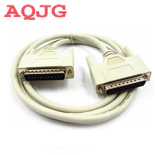 DB25 Male to Male 25 Pin Parallel DB25 Printer Cable 150CM Standard Parallel Port Cable extended cable White Console cable New(China)