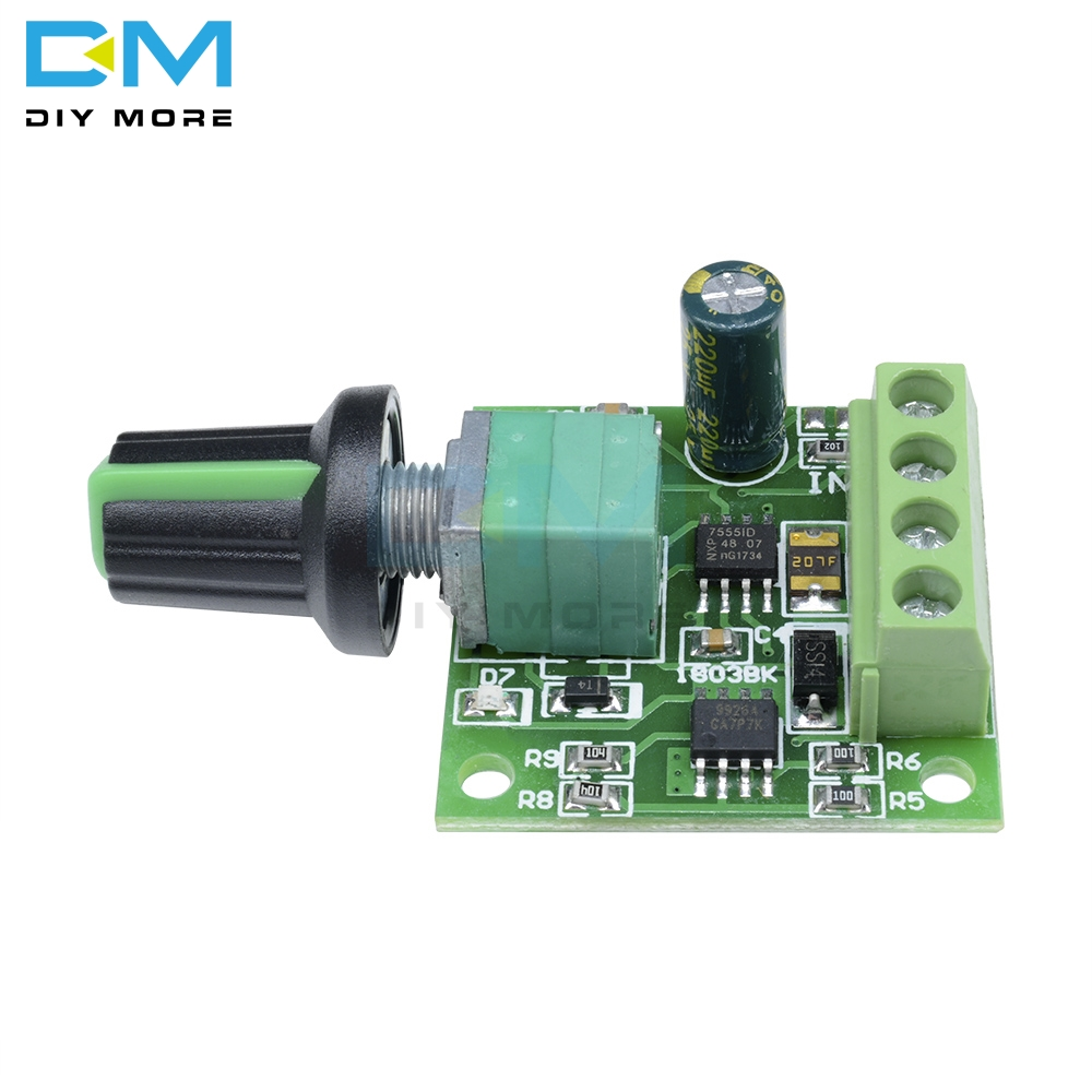6V 12V 2A 30W DC Motor Speed Controller Adjustable W// Switch Function New