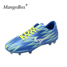 MangoBox 2017 Men Football Yellow Soccer Cleats New Cool Kids Soccer Shoes Hard-Wearing Traning Football For Girl(China)