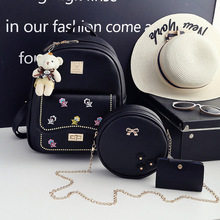 double arrow and double shoulder bag three sets of student bag leisure bag clear stock 500 manufacturers direct selling(China)