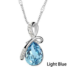 Crystal Necklaces Pendants  Silver Plated Jewelry & Jewelry Necklace Women Fashion Jewelry 0081