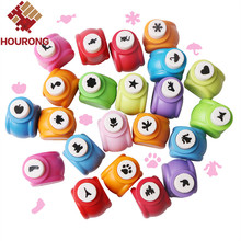10Pcs/lot Kid Child Mini Paper Punch For Scrapbooking Punch DIY Handmade Cutter Tag Card Craft Punch Hole Cutter Tool Randomly(China)