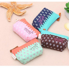Korean Version Women Small Storage Bags for Key Card Phone Coin Purse Practical Canvas Daily Little Bags Travel Accessories