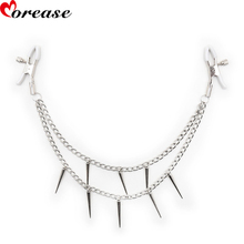 Buy Morease Nipple Clamps Chain Clips Flirting Teasing Papilla Clip Bondage Kit Slave Bdsm Pussy Sex ForToy Women Sex Game Products
