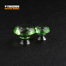 30mm/40mm 10pcs Green Decoration Style Crystal Glass Handle Interior Design Furniture Accessories Drawer Hardware Cabinet Knob