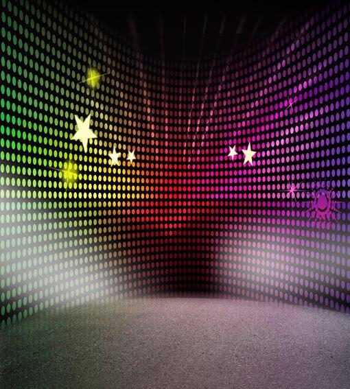 DJ Disco Music Stars photo backdrop High-grade Vinyl cloth Computer printed custom Photography Backgrounds<br><br>Aliexpress
