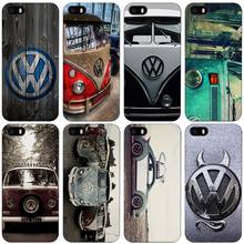 Volkswagen vw bus Black Plastic Case Cover Shell for iPhone Apple 4 4s 5 5s SE 5c 6 6s 7 Plus