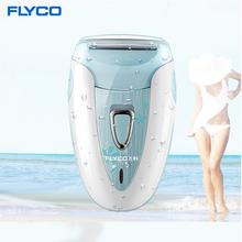 Flyco Professional Rechargeable Fashion Lady Shaver Hair Removal Device Female women Epilator Electric Shaving Scraping FS7208(China)
