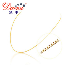 [DAIMI] Genuine 18K White Gold Yellow Gold Chain Cost Price Sale Pure Gold Necklace Best Gift For Women(China)