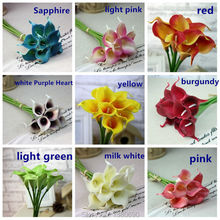 20pcs/lot  Artificial Flowers Real Touch Mini Calla Lily Artificial Flowers for Home Decoration Wedding Bouquets (no vase)