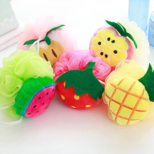 Soft Fruit Shape Bath Puff Shower Sponge Body Foam Bubble Net Ball Body Scrub(China)