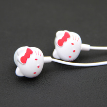 MOONBIFFY 2016 New Arrival free shipping Hello kitty Earphone for cell phone/ ipod mp3/mp4 mobile good quality cartoon