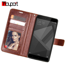 Thouport Xiaomi Redmi 4X Case Note 32gb Card Slot Stand Cover Retro Flip Wallet Leather - OfficialFlagship Store store