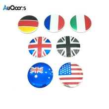 4pcs National Flag Car Steering tire Wheel Center car sticker Hub Cap Emblem Badge Decals Symbol For Honda VW Audi BMW Nissan