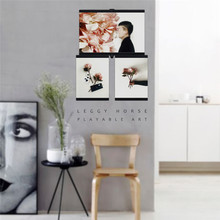 3D DIY White Black Picture Photo Frame Creative Puzzle Wall Desktop Decor For Home Office Shops Photo Frame Set Suction Cube(China)