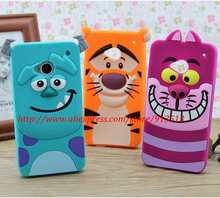 For HTC One M7 Case Sulley Tiger Cheshire Cat Silicone Cell Phone Cases Cover For HTC M7(China)