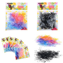 1bag Mini Rubber Hairband For Ponytail Holder Multi Colors Black Elastic Hair Band Ties Braids Plaits