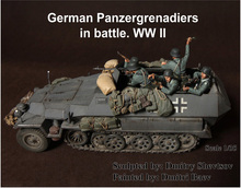 New Unassembled 1/35 Resin Kits Scale WWII German Panzergrenadiers In Battle (Without Tank)    Resin Kit DIY Toys Unpainted kits