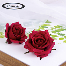 SHIMZH Artificial Flowers Rose 20Pcs/Lot Silk European Style Vintage Rose Fake Flowers Wedding Home Decoration Rose Wholesale(China)